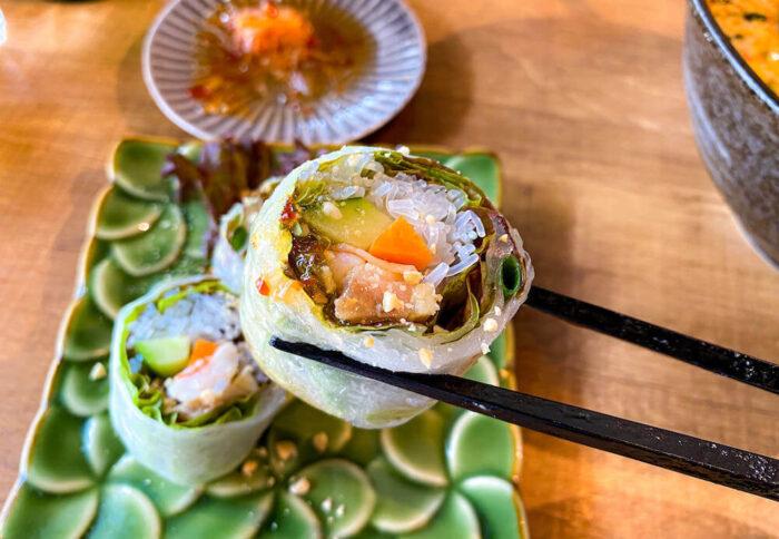 タイ屋台料理 アンド ヌードル オシャで食べた生春巻き2