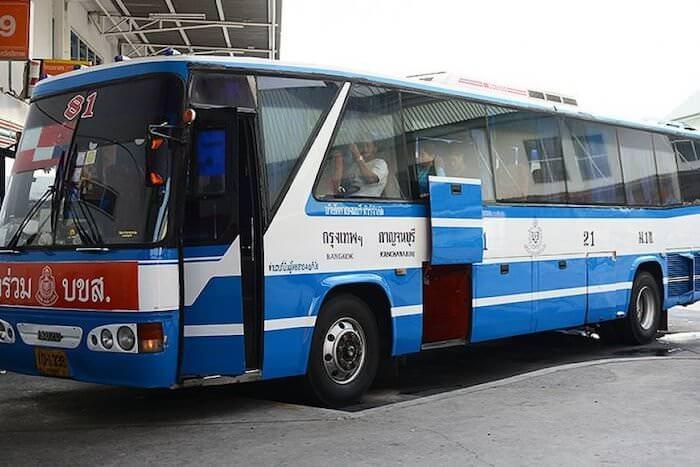カンチャナブリー行きのバス