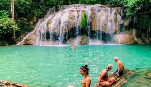 エラワンの滝。タイで最も美しい滝の水遊びポイントと行き方を紹介します。