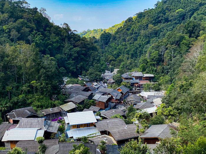 メーカンポン村のカフェから見える絶景