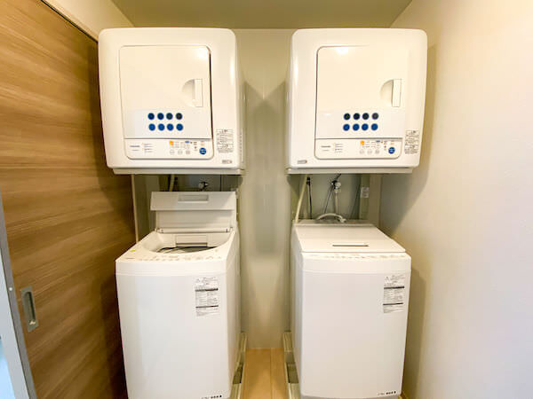 リゾートバイトの個室寮に完備している洗濯乾燥機