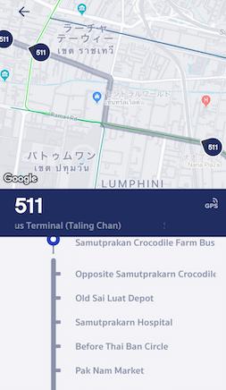 511番バスの現在地