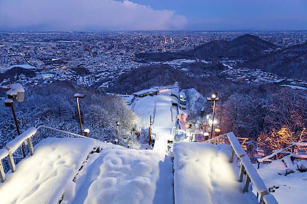 スキー場ジャンプ台からの風景
