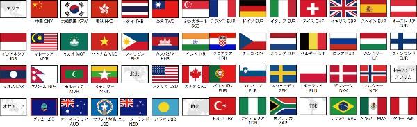 対応紙幣国