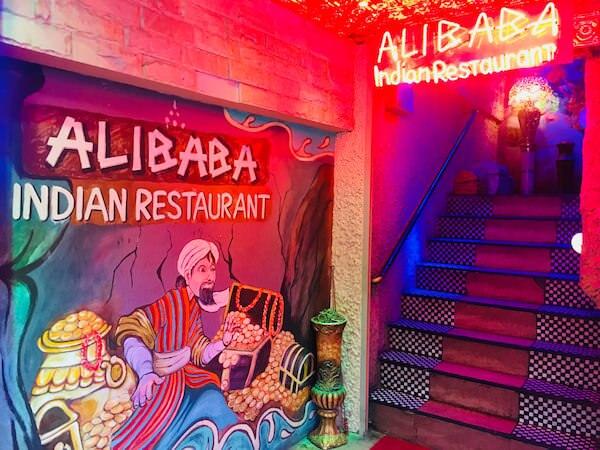 アリババ入り口の階段