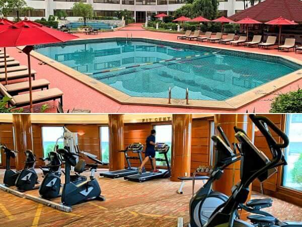 アマリ ドンムアン エアポート バンコクホテル(Amari Don Muang Airport Bangkok Hotel)のプールとフィットネスジム