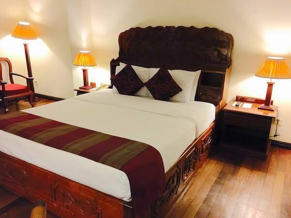 アンコール パラダイス ホテルのベッド