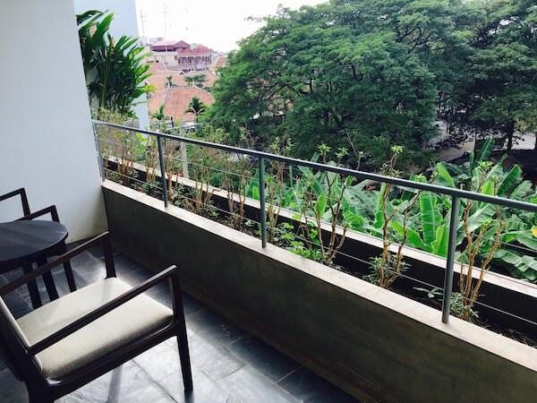 アプサラ レジデンス ホテルのバルコニー