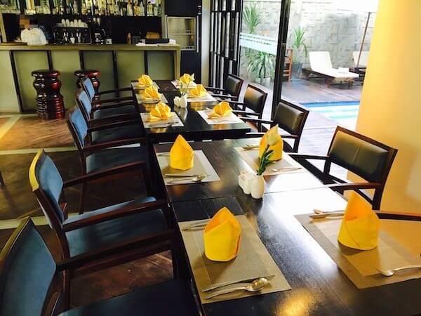 アプサラ レジデンス ホテル (Apsara Residence Hotel)の朝食会場