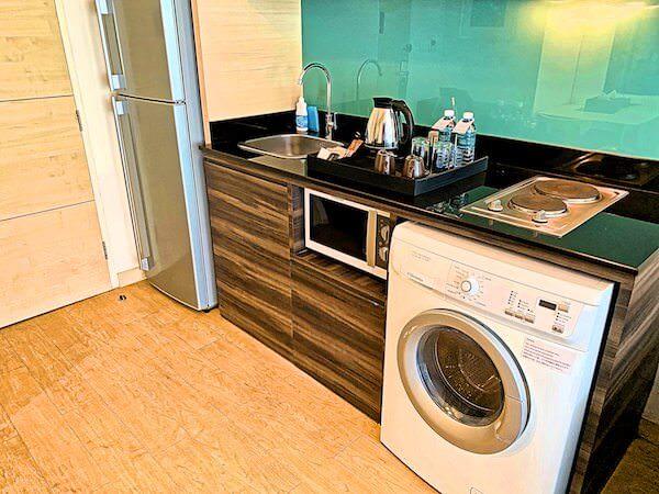 アライズホテルスクンビット(Arize Hotel Sukhumvit)の客室に完備している洗濯機