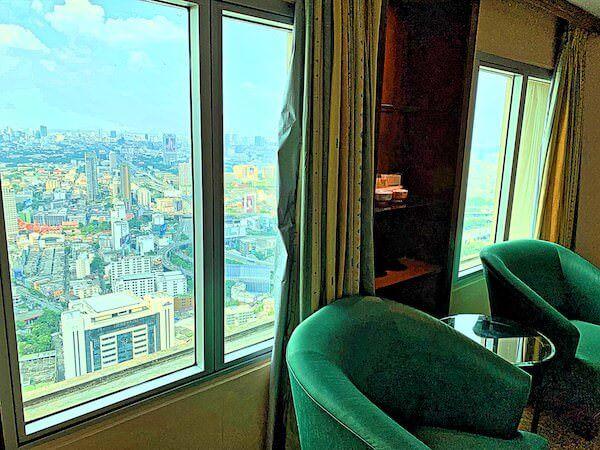 バイヨークスカイホテル(Baiyoke Sky Hotel)客室のカーテン