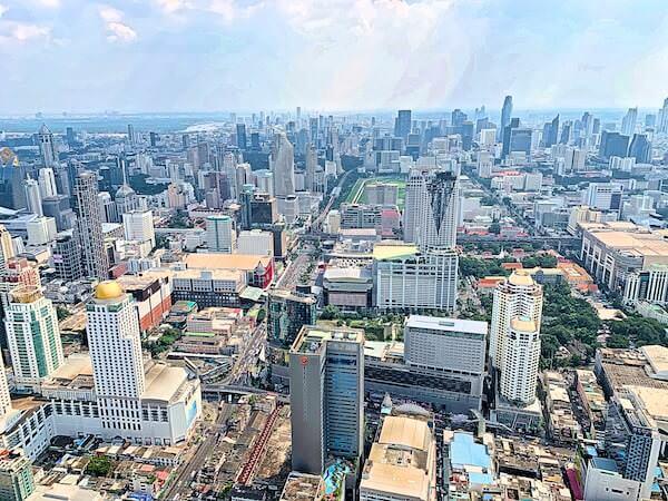 バイヨークスカイホテル(Baiyoke Sky Hotel)84階の回転展望デッキから見える景色2