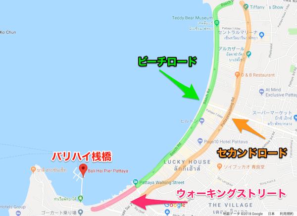バリハイ桟橋の場所を記したMAP