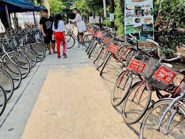 バーンガジャオのレンタル自転車