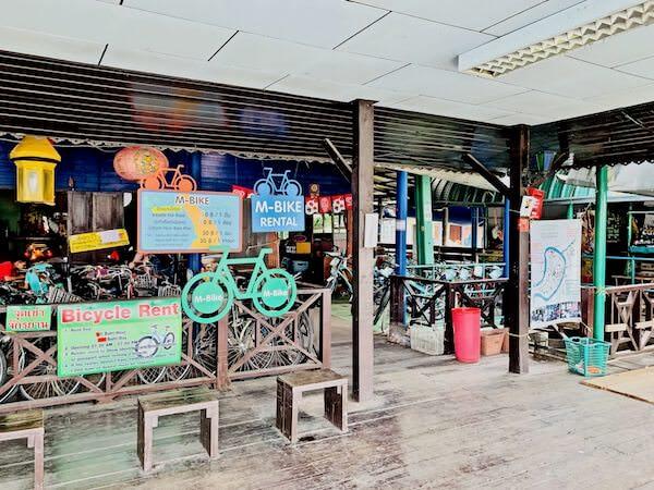 バーンガジャオのレンタル自転車屋