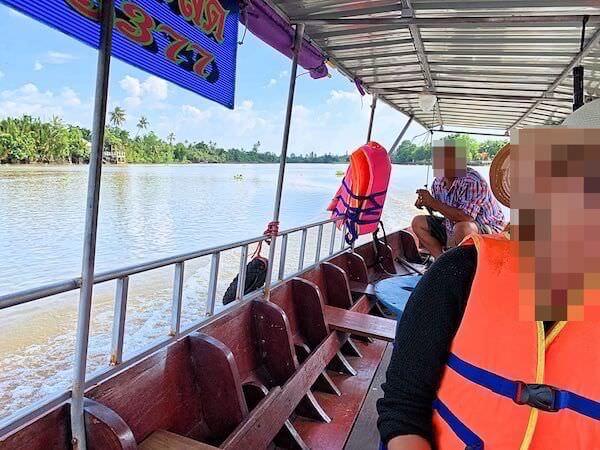 バンクラー水上市場(Bangkla Floating Market)でのボートクルーズ1