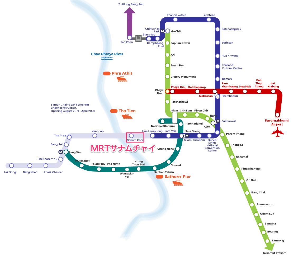 バンコクの新しい路線地図