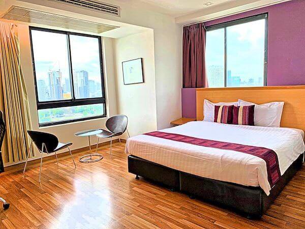 エレファントタワー併設の「イヤリン@トゥック チャン ラチャヨーティン ホテル」の客室2