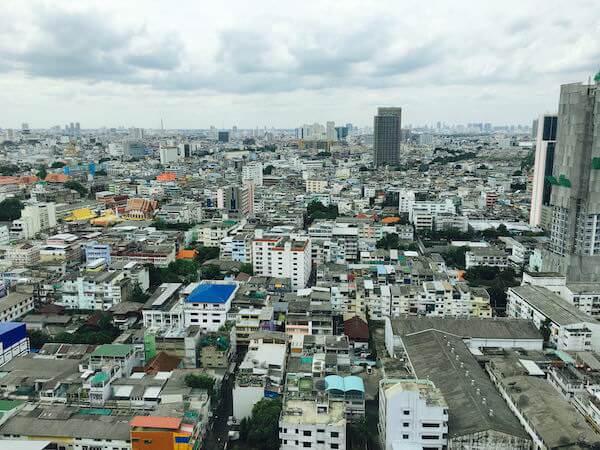 バンコク マリオット スリウォンの客室から見える景色