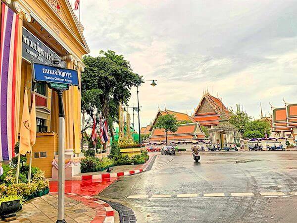バンコク旧市街の街並み