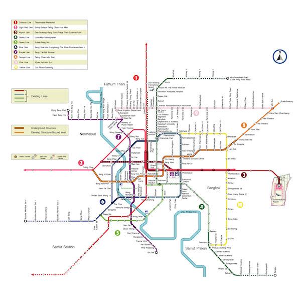 2020年以降のバンコク路線図