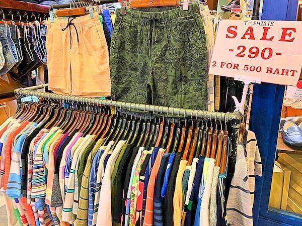 ターミナル21の2Fにある男性向け衣料品店1