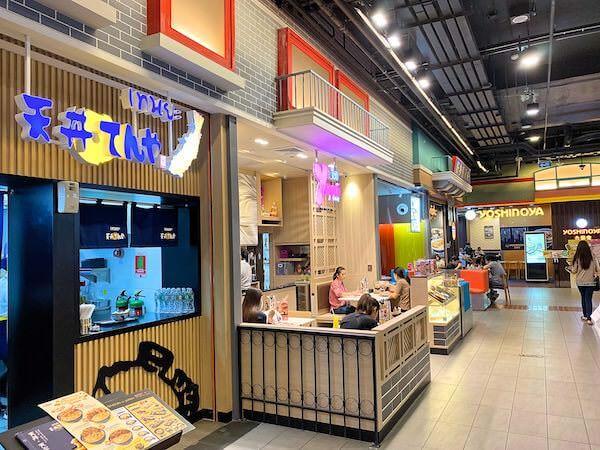バンコクのターミナル21の4階に並ぶ日本食チェーン店