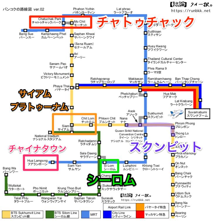 バンコク路線図完成版
