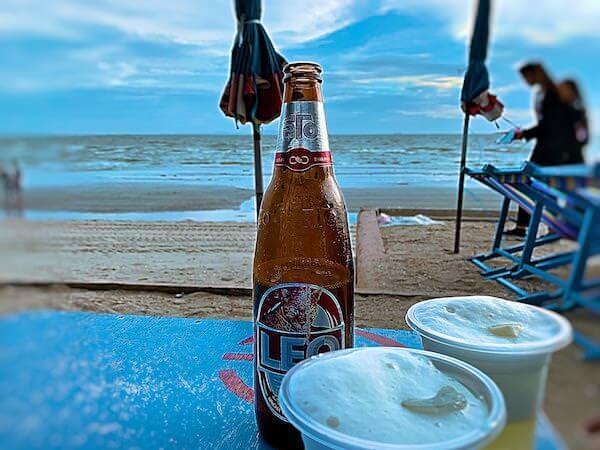 バンセンビーチで飲んだビール