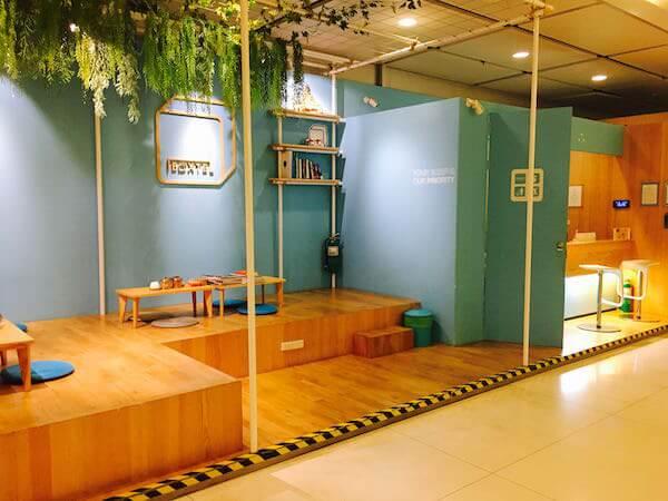 ボクステル@スワンナプーム エアポート(Boxtel@Suvarnabhumi Airport)の休憩スペース