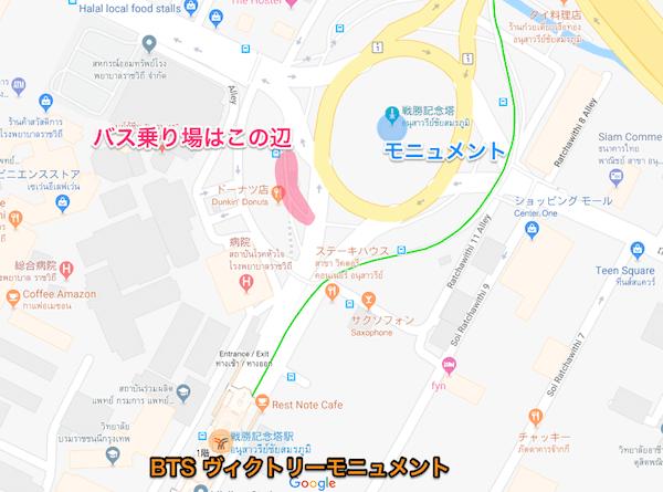 BTS ヴィクトリーモニュメント周辺の地図