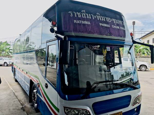ピマーイ行きのバス