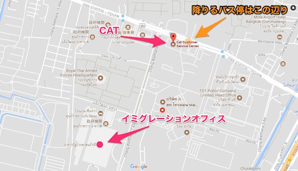 CATの場所を記したMAP