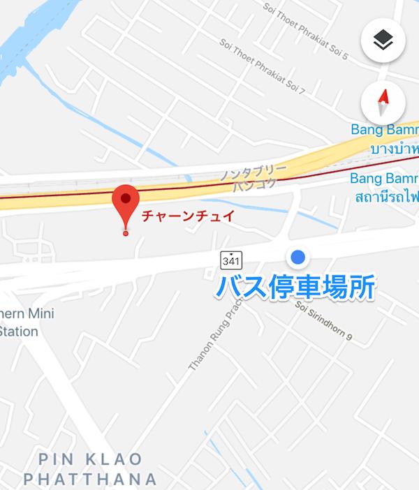 チャンチュイ行きバス停車場所