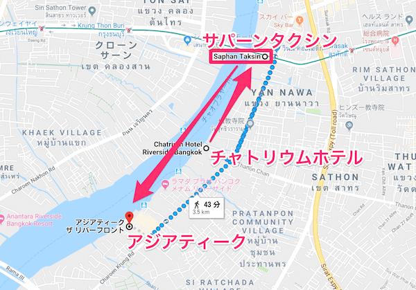 チャトリウム ホテル リバーサイド バンコク (Chatrium Hotel Riverside Bangkok)周辺の地図