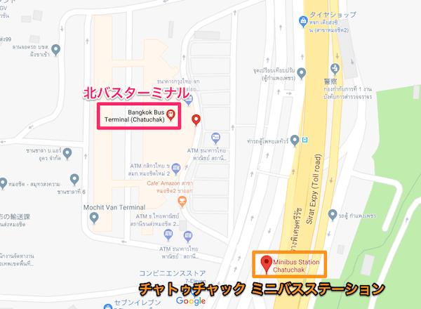 チャトゥチャック ミニバスステーションの地図