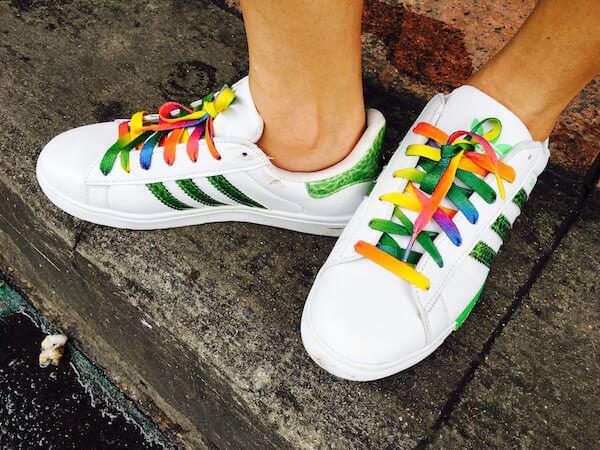 チャトゥチャックで購入したアディダスの靴