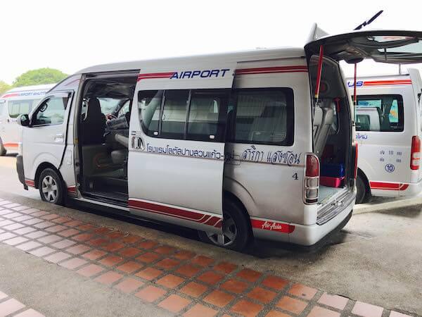 チェンマイ空港の乗り合いシャトルバス