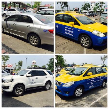 チェンマイ空港のタクシー4種類