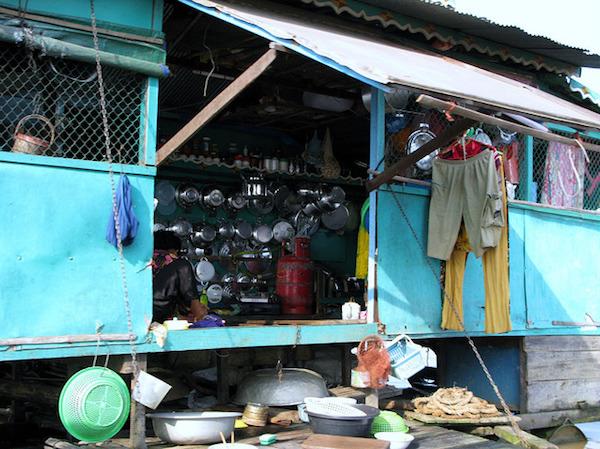 チョンクニアのベトナム人家屋