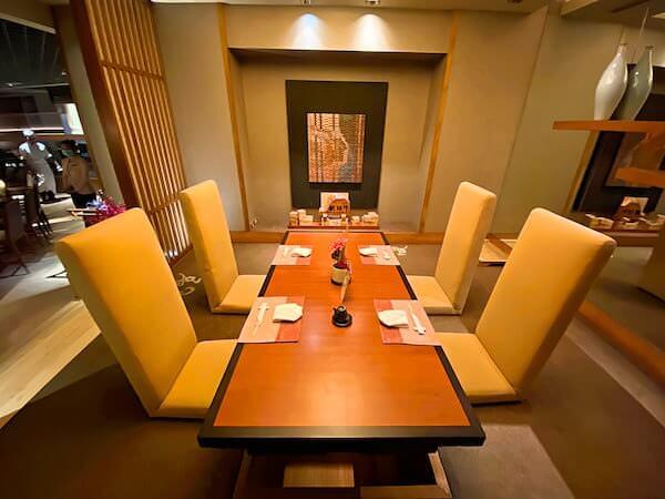コンラッド バンコク(Conrad Bangkok)きさら(Kisara)の座敷席