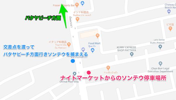 交差点のMAP