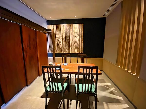 クラウンプラザ バンコク ルンピニ パーク(Crowne Plaza Bangkok Lumpini Park)併設の日本食レストラン水琴の個室席