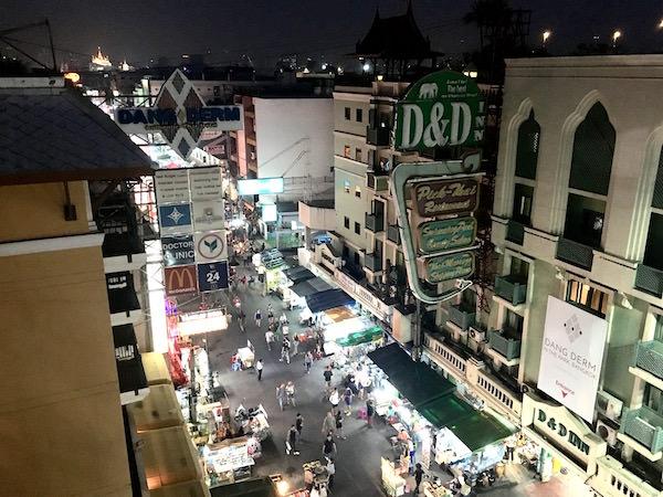 ダン ドゥーム ホテル屋上からの景色