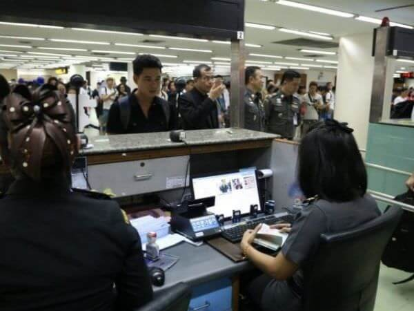 ドンムアン国際空港の入国審査場
