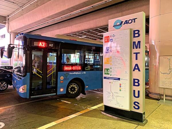 ドンムアン空港のA2エアポートバス