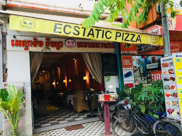 シェムリアップのECSTATIC PIZZA