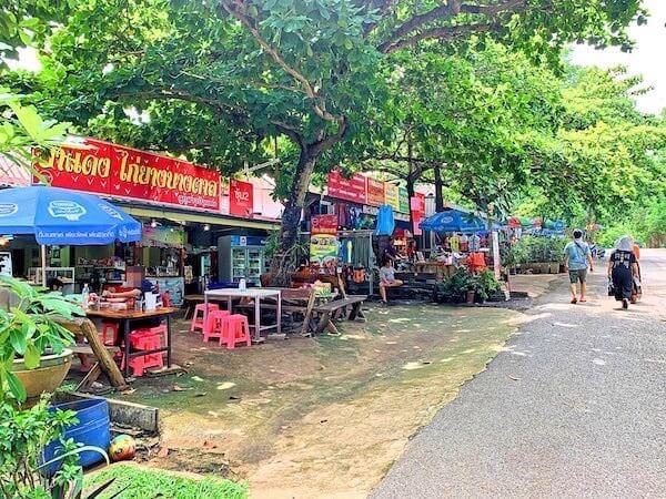 エラワン国立公園入り口の商店