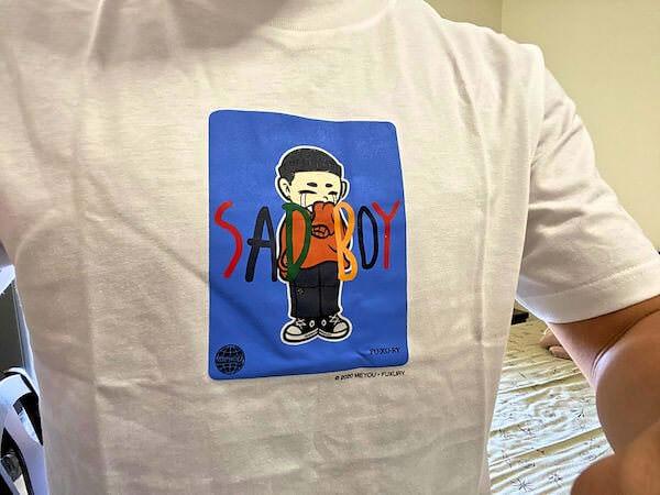 購入したFU-XU-RY(ファクシュアリー)のTシャツ2