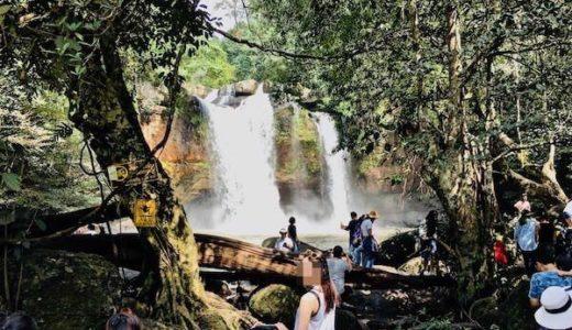 カオヤイ国立公園のへーウスワット滝(Haew Suwat Waterfall)
